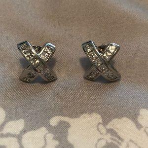 Jewelry - Cz earrings .  Never worn .  Statement piece